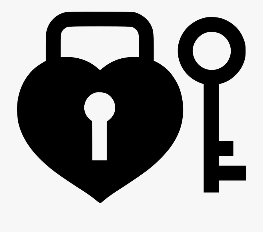 png royalty free stock Key and lock clipart. Padlock heart
