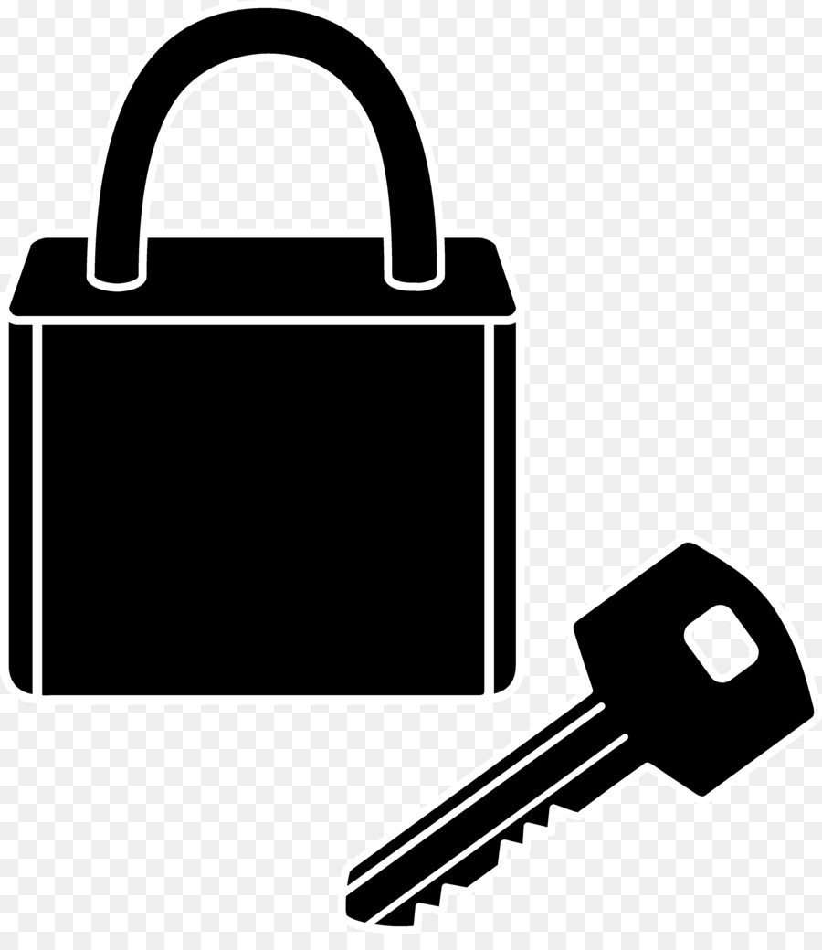 freeuse Clip art . Key and lock clipart