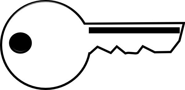 jpg stock Clipart key.  collection of black.