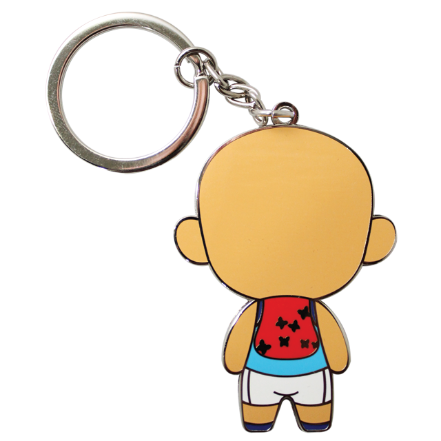transparent Metal keychain cinonet upin. Key chain clipart