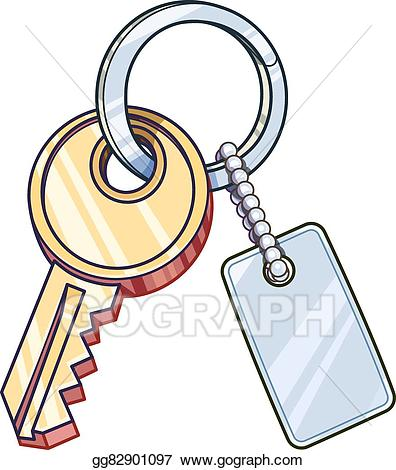 graphic freeuse stock Key chain clipart. Vector with keychain illustration