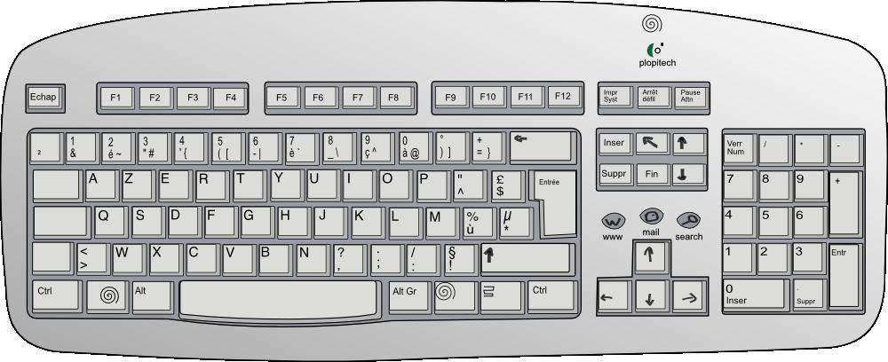 clip art freeuse Onlinelabels clip art plopitech. Keyboard clipart.