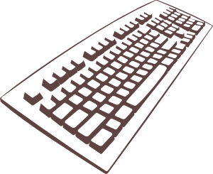 jpg black and white download . Keyboard clipart.