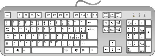 graphic freeuse library Computer . Keyboard clipart.