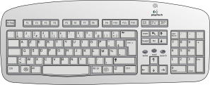 graphic transparent download Clip art at clker. Keyboard clipart.