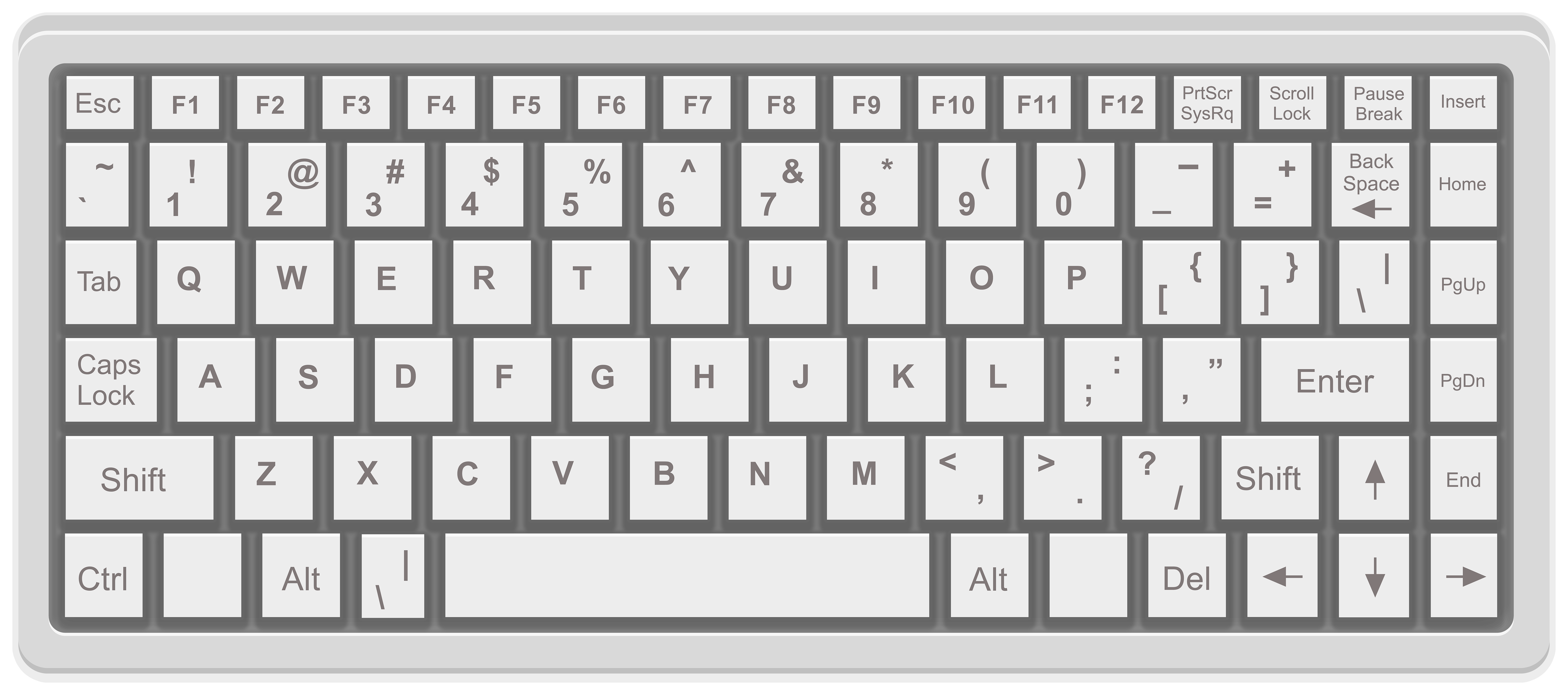 png free Computer png clip art. Keyboard clipart.
