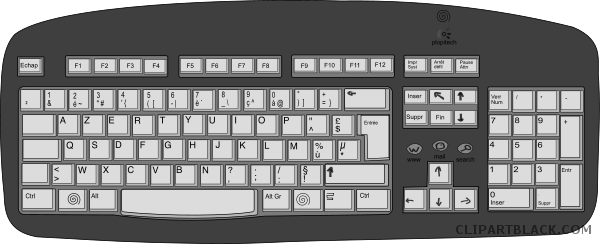 clip art free Keyboard clipart black and white. Clipartblack com tools free
