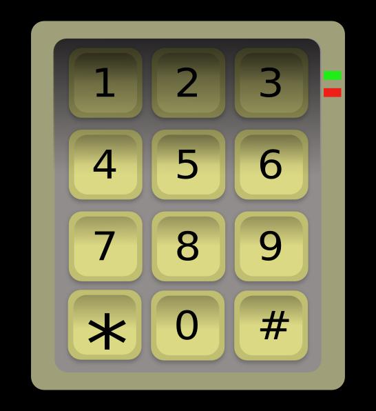 clip art library stock Numeric Keypad