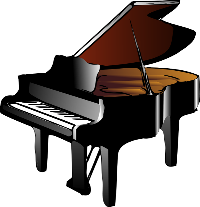 vector royalty free stock Keyboard and piano grand. Country western music clipart