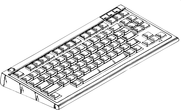 clip freeuse library Keyboard clipart black and white. Computer clip art at