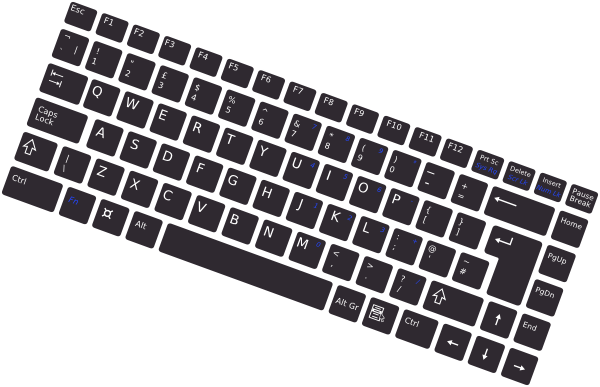 clip art black and white library Rotated simple clip art. Vector computer keyboard