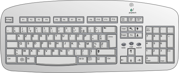 graphic library stock Keyboard key clipart. Clip art at clker