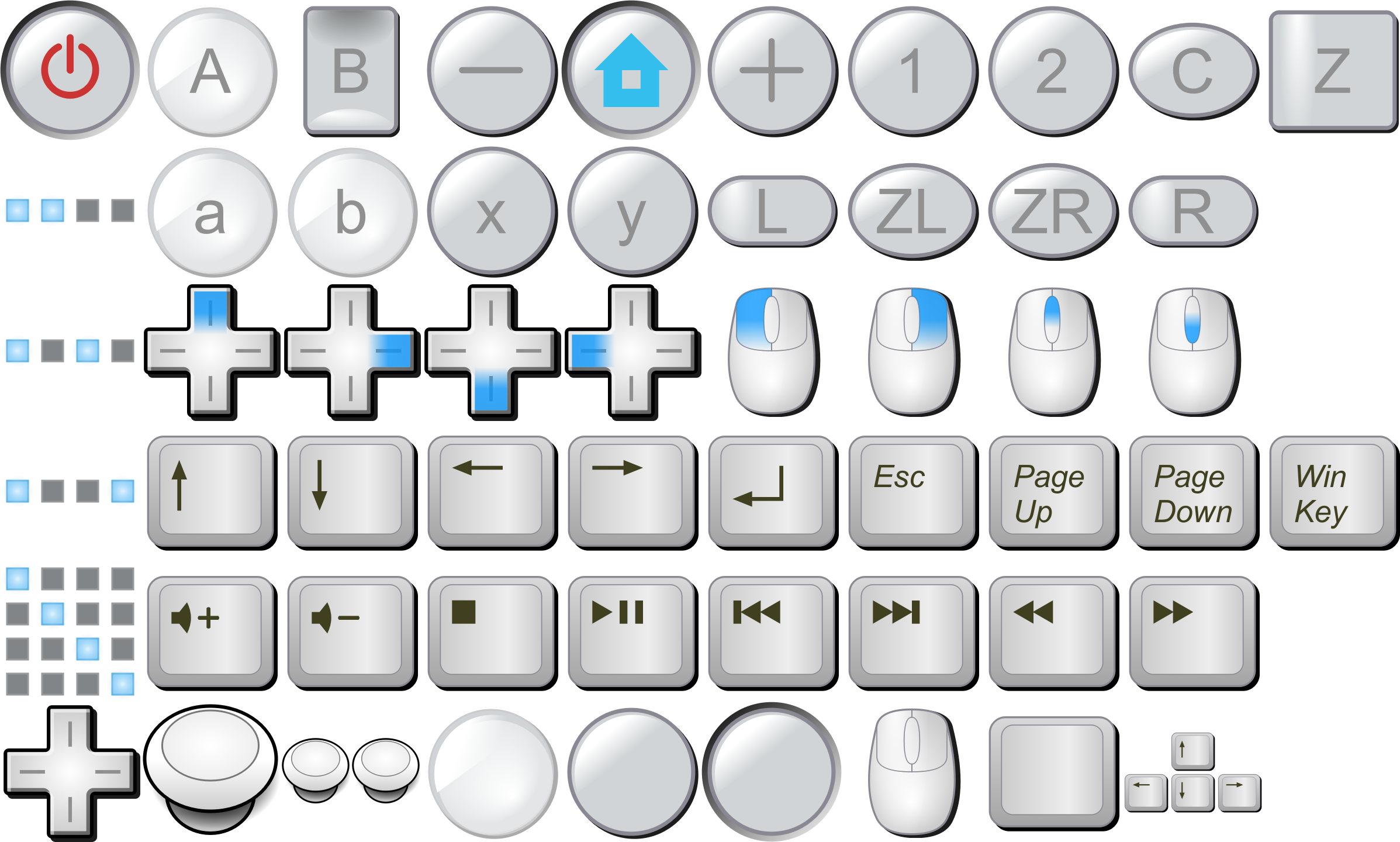 banner freeuse Wii buttons mouse big. Keyboard keys clipart