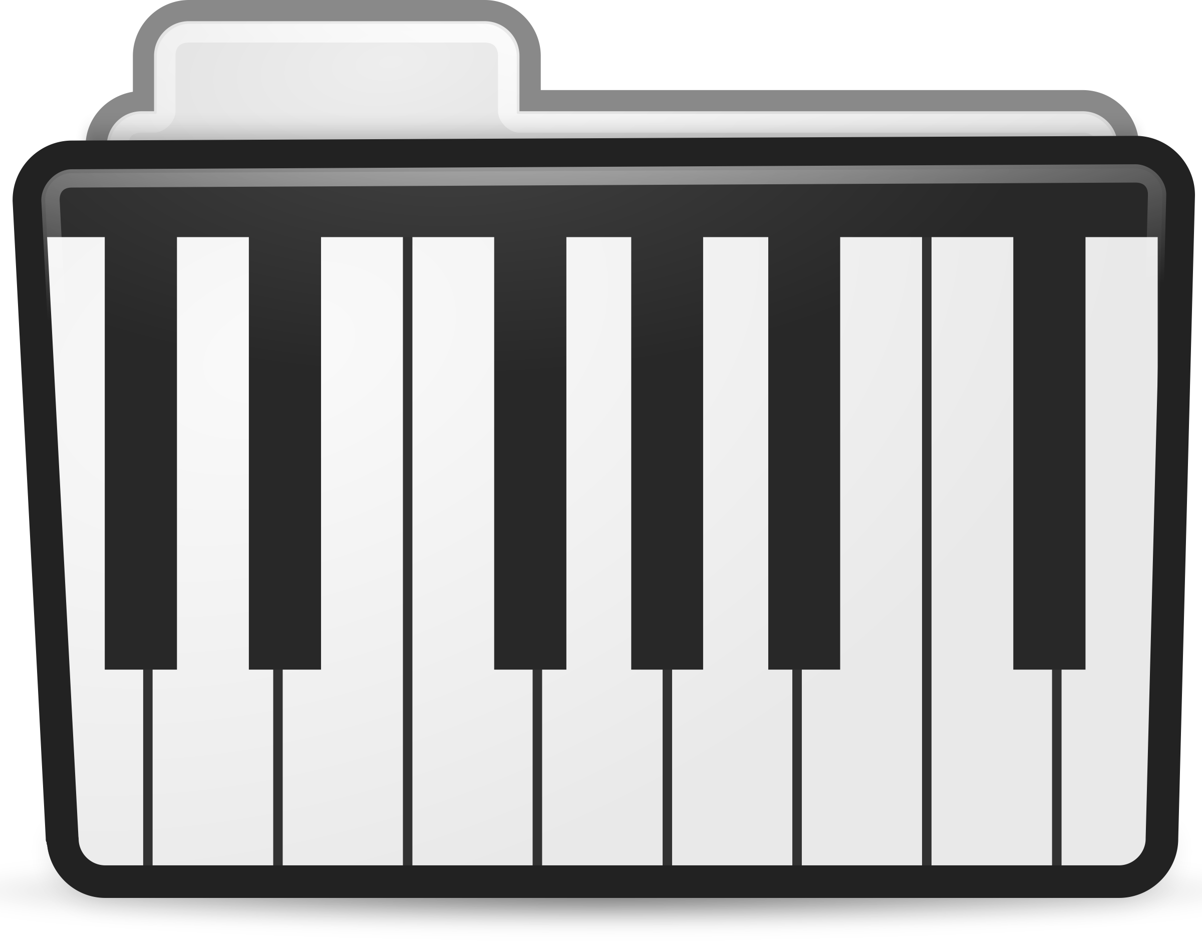graphic free library Folder icon. Keyboard piano clipart