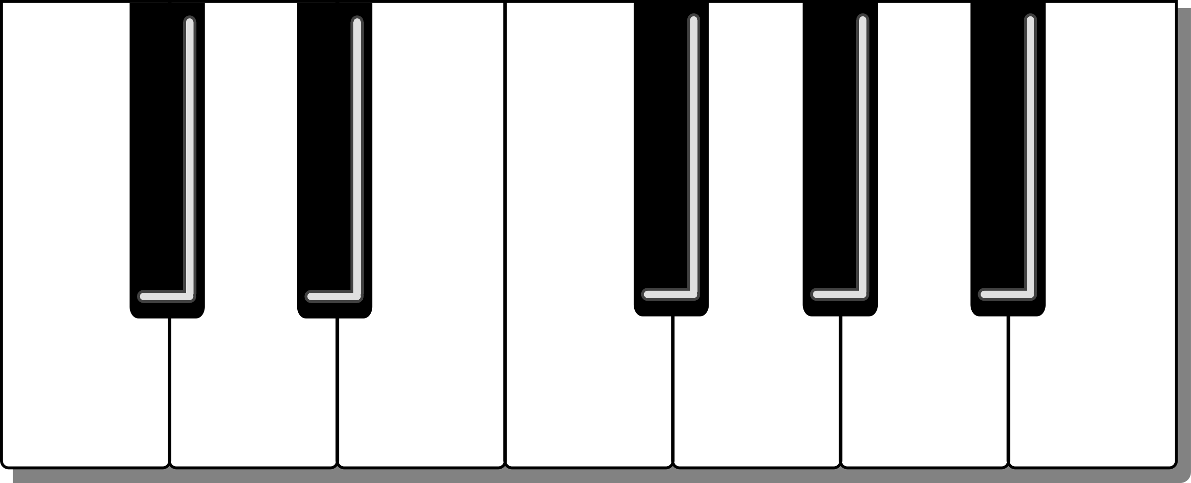 svg free library Panda free images . Keyboard piano clipart