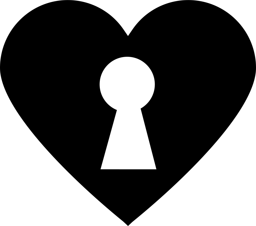 vector transparent stock Keyhole In Black Heart Svg Png Icon Free Download