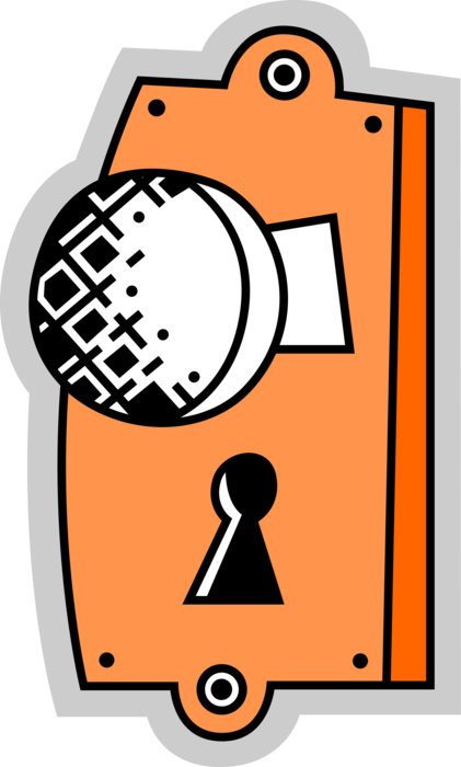 clip free stock Door Knob Handle with Keyhole