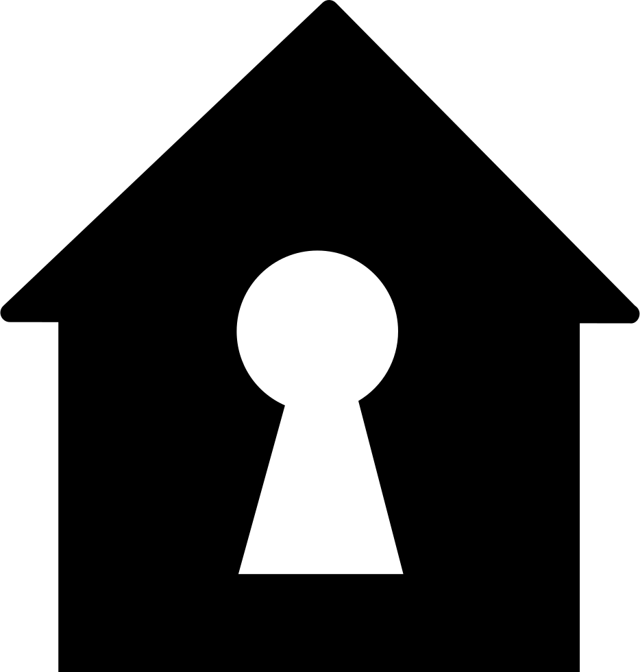 clip transparent library Keyhole In A Home Shape Svg Png Icon Free Download