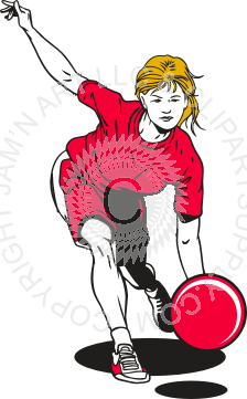 clip black and white Kickball clipart. Girl throwing in color