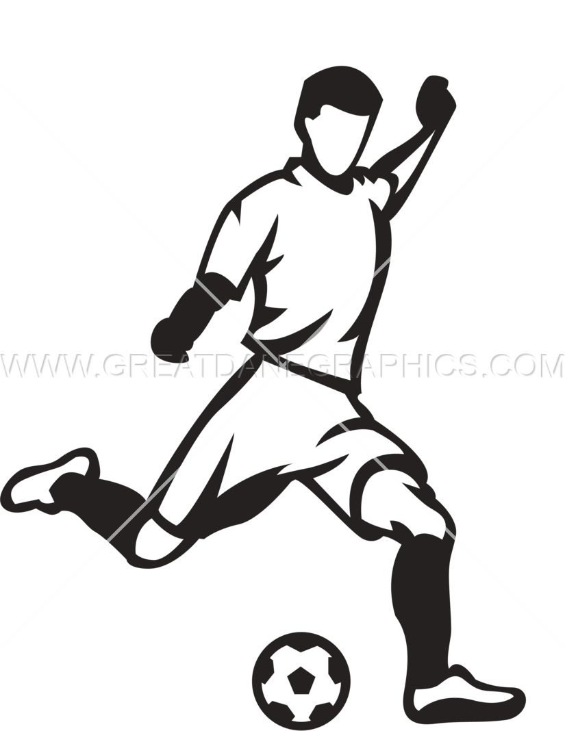 clip library Playing clipart soccer kick.  collection of player