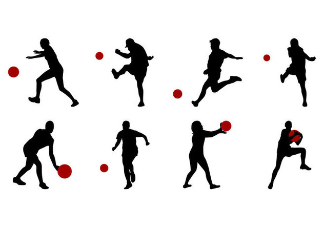 svg Free silhouettes download . Kickball vector.