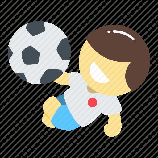 jpg free stock Kickball vector. Football jump kick ball.