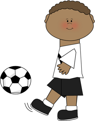 clipart library stock Kids playing soccer clipart. Footballer athlete free on