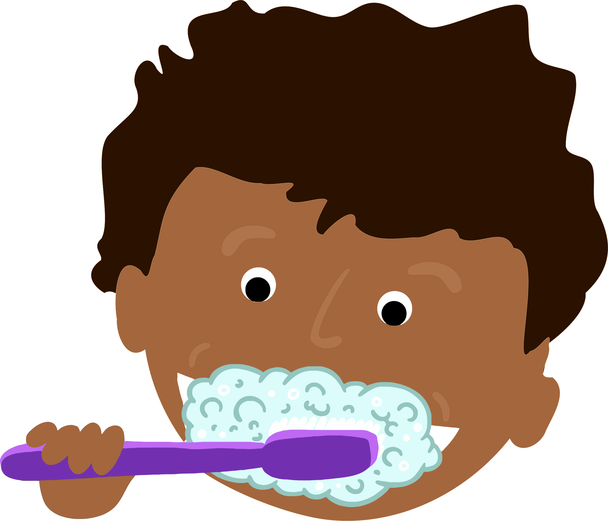 image library download Kids brushing teeth clipart. African kid big image