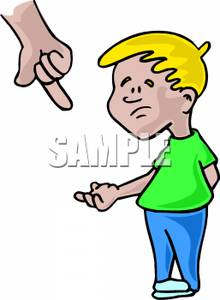 graphic freeuse Kid in trouble clipart. Clip art image a