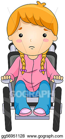 clipart free stock Stock illustration on a. Kid in wheelchair clipart