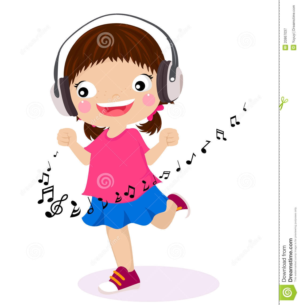 picture transparent Listen free download best. Kid listening to music clipart.