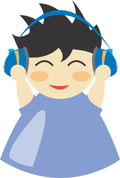 download Kid listening to music clipart. Boy panda free images.
