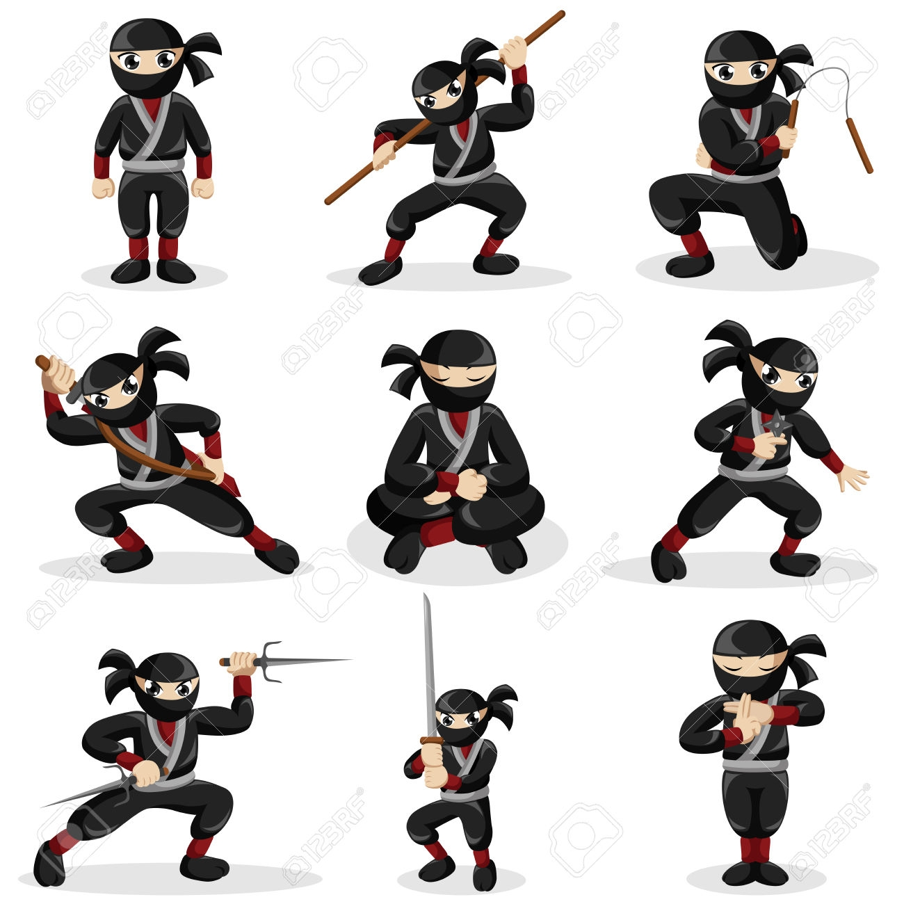 svg freeuse stock Kid ninja clipart. Cliparting com