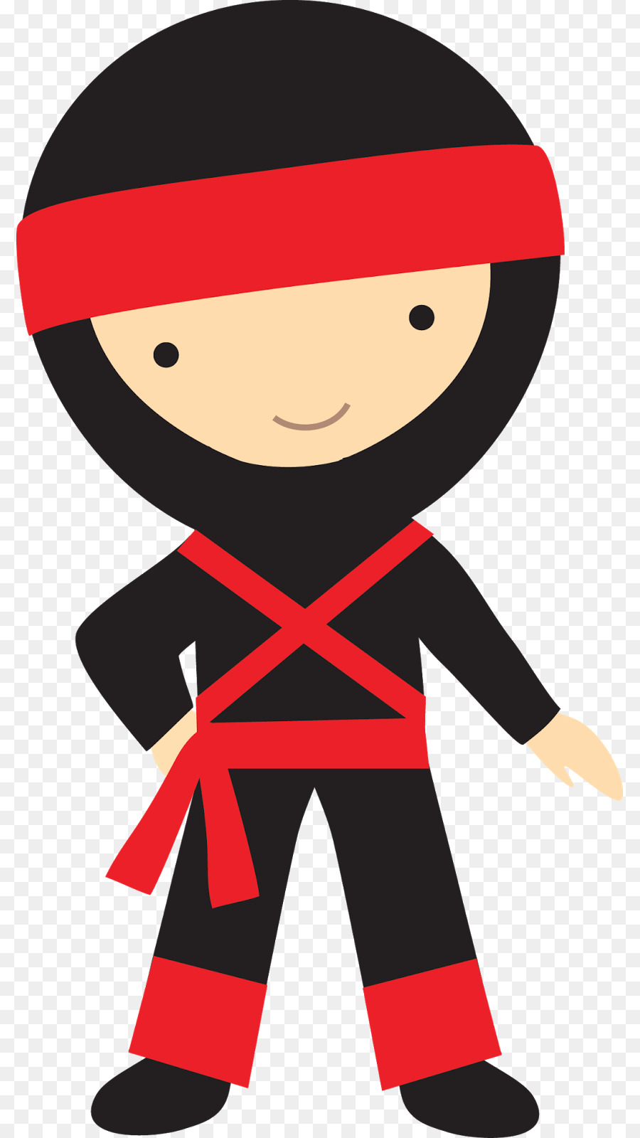 royalty free library Cartoon red boy transparent. Kid ninja clipart