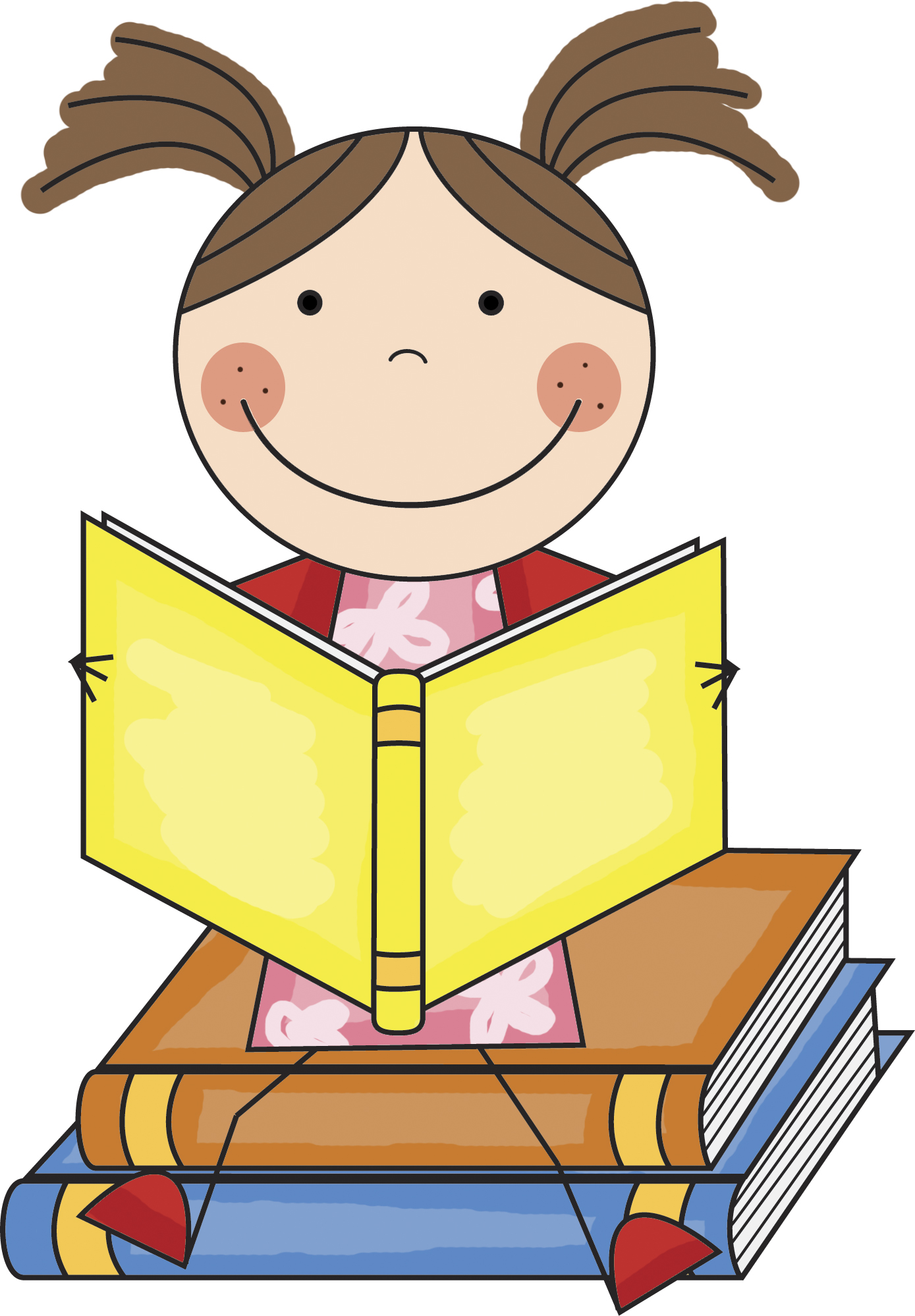 picture free stock Kid books wikiclipart . Stick kids reading clipart