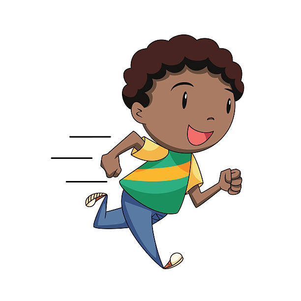 clip art freeuse library Kid running clipart. Station