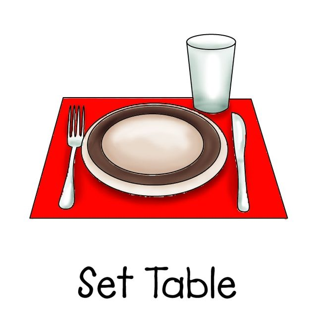 image free Kid set table clipart. Image result for kids