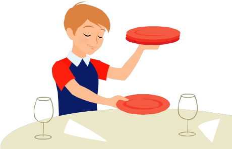 transparent Kids Setting The Table Clipart