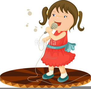 clip stock Kid singing clipart. Free images at clker.