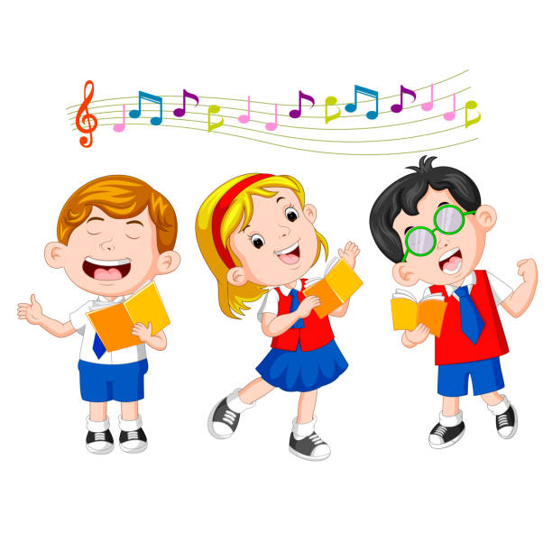 clip art royalty free download Station . Kid singing clipart.