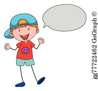svg royalty free library Boy talking clip art. Kid speaking clipart