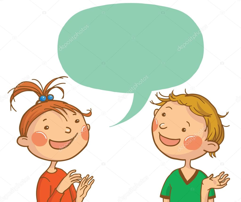 clip art freeuse Kid speaking clipart. Kids talking free download
