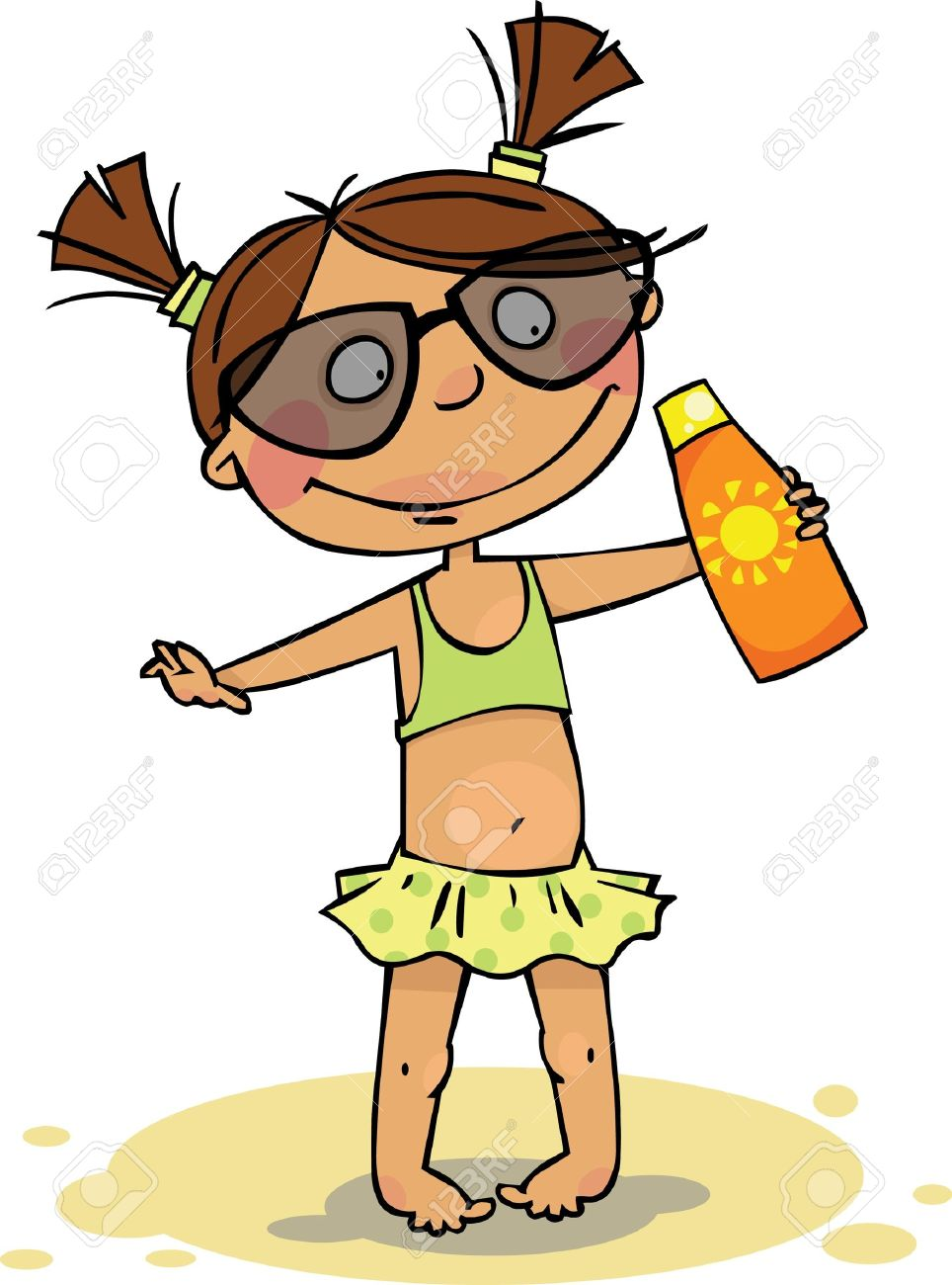 clip royalty free download Kid sunscreen clipart. Images free download best