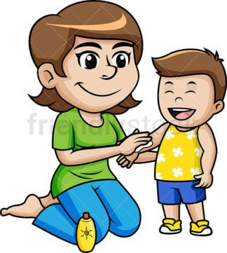 svg library download People on summer vacation. Kid sunscreen clipart