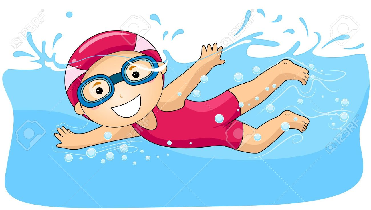 stock Kid swimming clipart. Free cliparts download clip