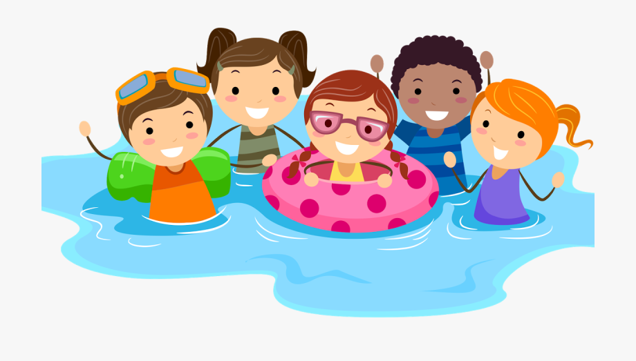 graphic library Child transparent . Kids swimming clipart