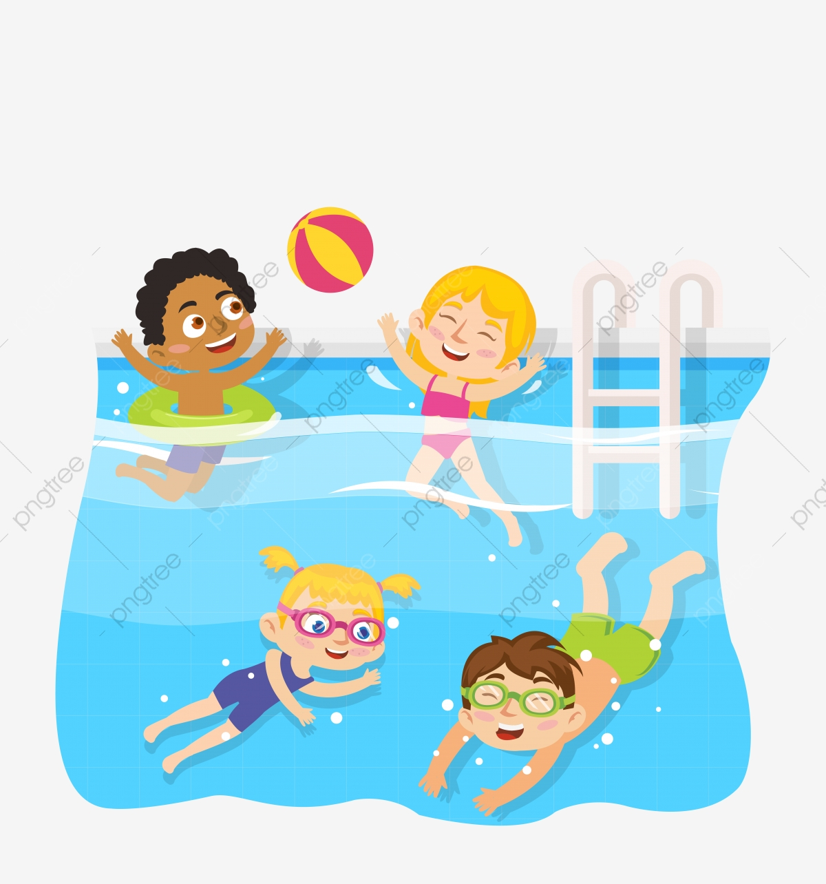 banner download Pool children learning to. Kid swimming clipart