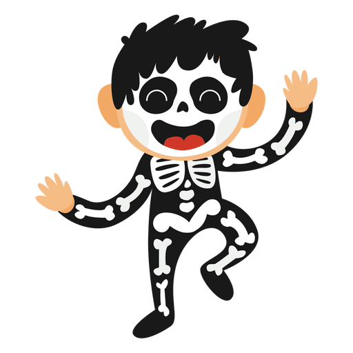 image freeuse stock Skeleton kid halloween costume