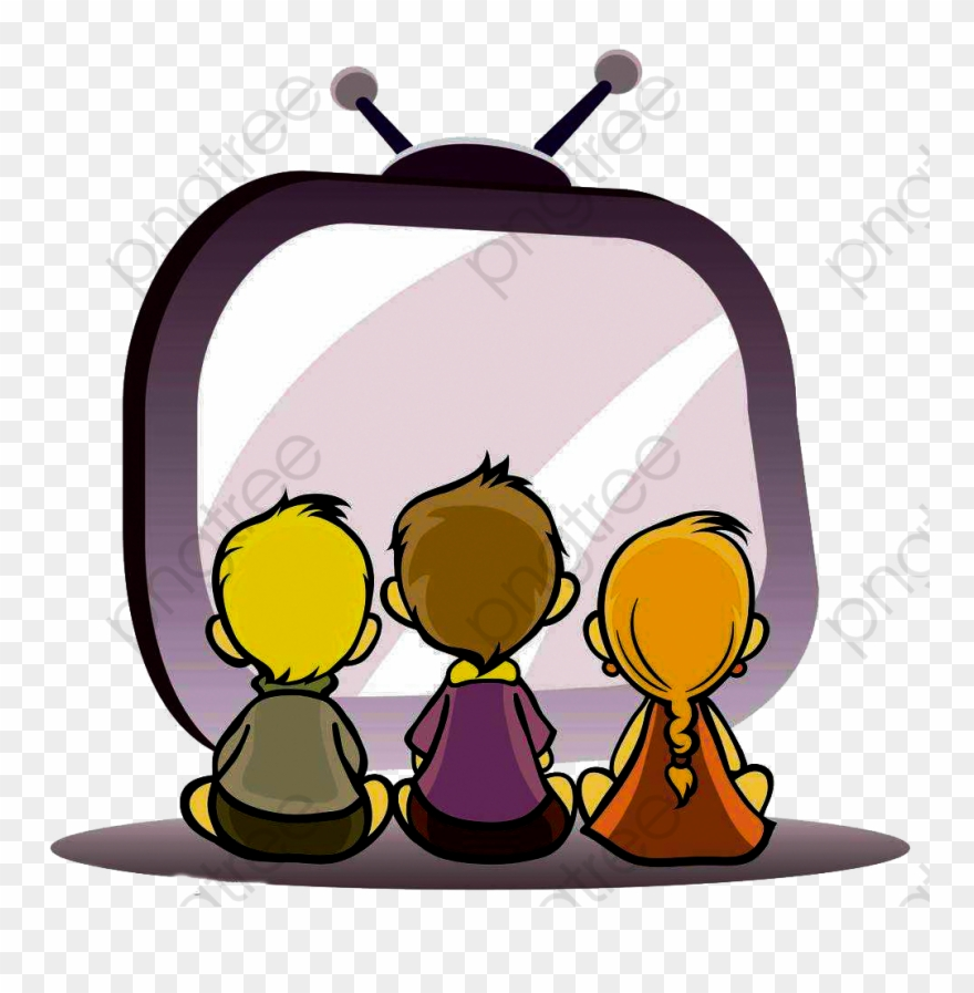 clip free stock Kid watching tv clipart. Child kids png download.