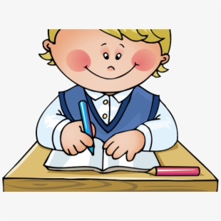 graphic freeuse School work kids do. Kid working clipart.